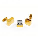 Gold USB Cufflinks in lightbox