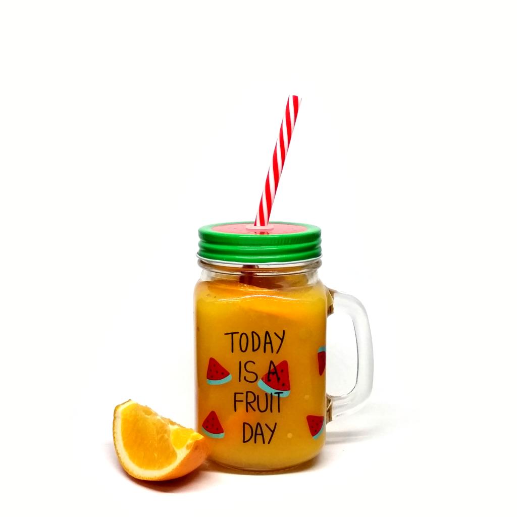 Orange Juice in Mason Jar Mug