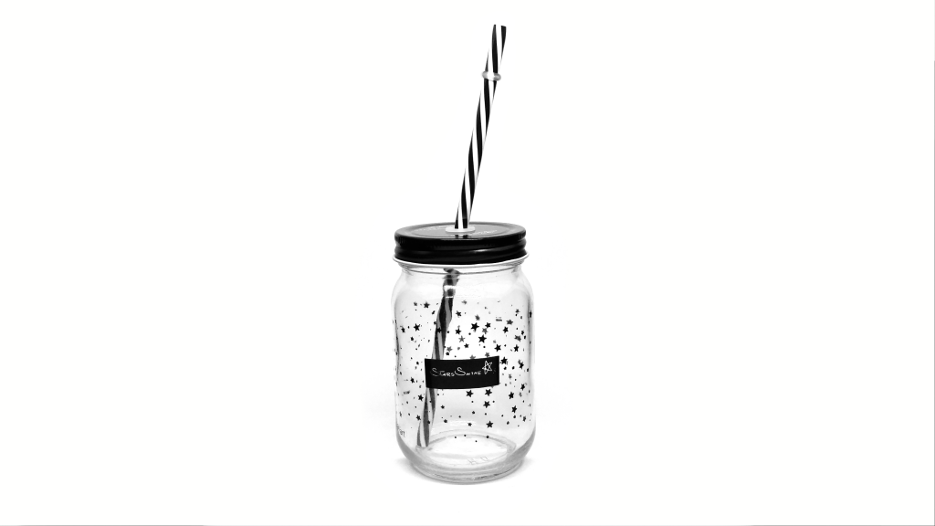 photograph glass jar with black sheets